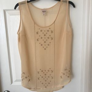 Mossimo Suply Co Sheer Tank Top Size Large